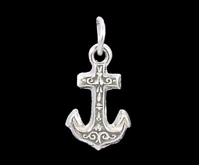 Anchor charm Sterling silver 925 charmmakers 3D