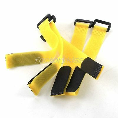 1 Peice 200mm VELCRO® 11.1 3S 2200 Battery Tie Down Strap Holder YELLOW T-Rex