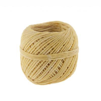 Hemp Wick Natural Beeswax Coating Candle Wick DIY Crafts 200Feet