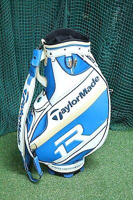 Taylormade R1 Open Staff Bag / White Blue / 6-Way Divider / Tagope001