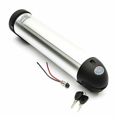 Lithium Ion Bottle Battery 24V 15A Li-ion Electric Bicycle Bike Lockable LIPO