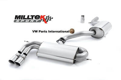 VW GOLF MK5 GTI 2.0T MILLTEK Cat Back Exhaust Performance Non Res Polished Tips