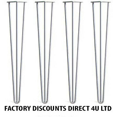 """Hairpin Table Legs 28"""" Standard Table Height 3 Rod 12mm Steel**STRONG**(x4)"""