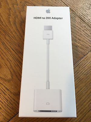 Apple HDMI to DVI Adapter (MJVU2ZM/A) - Factory Sealed!