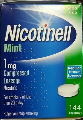 NICOTINELL Mint 1mg Compressed Lozenges X 144 ( Expiry 06/ 2017 )