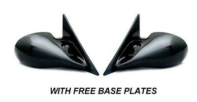 Bmw E36 3 Series 2 Door Coupe Black M3 Electric Door Wing Mirrors & Base Plates