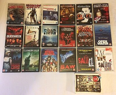 18 x Horror / Gore / Slasher Movies DVD Bundle Offer Job Lot  *FREE UK DELIVERY*