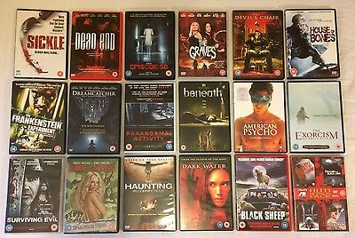 18x Horror / Gore / Slasher Movies DVD Bundle Offer Job Lot <<FREE UK DELIVERY>>