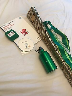 GENUINE LONDON 2012 OLYMPIC TORCH (Bearer #093) + EXTRAS.