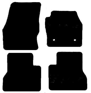 Ford Transit Connect Crew Cab (2014-2016) 3mm Black Checkered Rubber Floor mats
