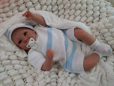 New Sculpt By Artist Sunbeambabies Lifelike Child`s First Reborn Baby Boy Doll