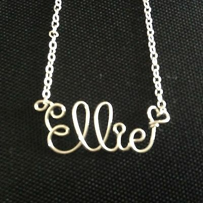 Personalised Chain Any Names 925 Sterling Silver Hand Crafted Pendant Necklace