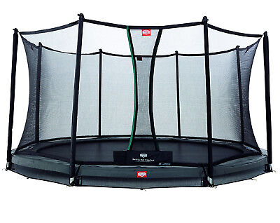 BERG InGround Champion Grey 380 Trampoline  (12.5ft) + Safety Net Comfort