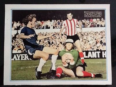 1972 A4 football action picture/poster MARTIN/McGRATH Southampton KEMBER Chelsea