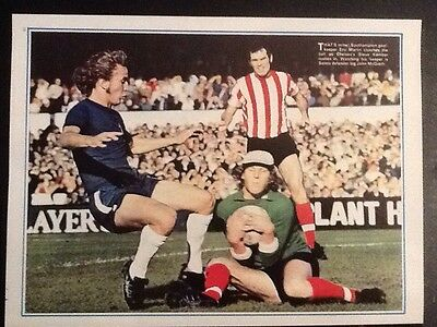 1972 A4 Football action picture/poster KEMBER Chelsea MARTIN/McGRATH Southampton