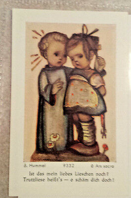 Hummel♡♡♡Holy card series of 10 angel or holy child instructing child #9329-9338