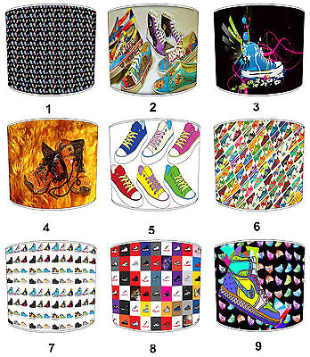 Children`s Funky Sneakers Lampshades Ideal To Match Funky Sneakers Duvets.