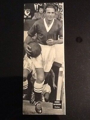 Football picture/poster DEREK SAUNDERS, Chelsea (half of A4 approx)