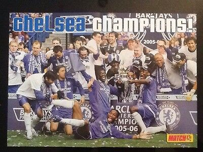 FABULOUS A3 Football TEAM picture/poster CHELSEA LEAGUE CHAMPIONS 2005/06