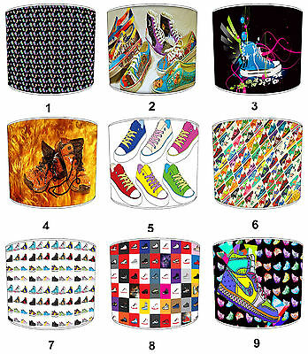 Children`s Sneakers Lampshades Ideal To Match Funky Sneakers Cushions & Covers.