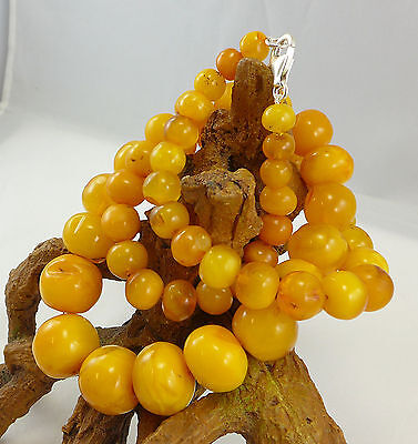 85,5 Gramm natural Baltic Butterscotch Amber Bernstein Kette Necklace