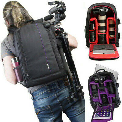 Large Travel DSLR SLR Camera Backpack Laptop Notebook Bag Case Cover Waterproof