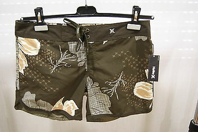 Hurley His Girls Brown 5 Boardshorts Costume Surf New