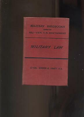 MILITARY LAW by Lt Col Sisson Pratt1891