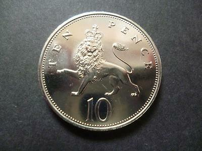 1982 Uncirculated Ten Pence Piece, The 1982 10P Was Only Minted For R/mint Sets.