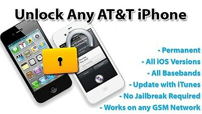 Apple iPhone 4 / 4S AT&T US FACTORY UNLOCK SERVICE