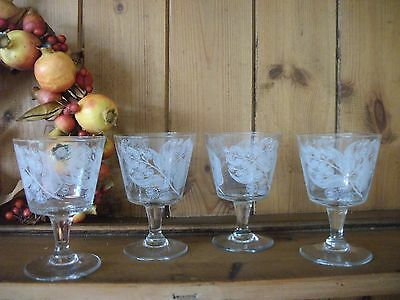 4 Vintage /Retro 1950/60s Calypto Pattern ,Port/Sherry Glasses -
