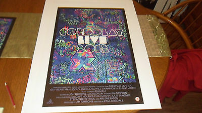 Coldplay.live 2012 Lithograph Poster