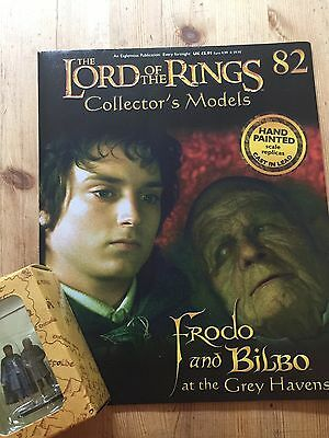 Eaglemoss. Lord Of The Rings Collectors Figure And Magazine No82 Frodo & Bilbo