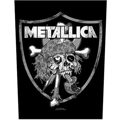 Metallica Raiders skull Back Patch XLG free worldwide shipping