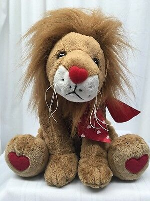 NWT THE BEARINGTON COLLECTION King Of Hearts Lion Plush Animal Limited
