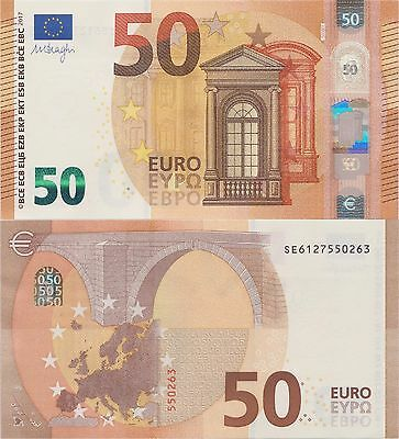 European Union 50 NEW EURO Issued 2017 UNC Sign. Draghi. Ref.  P23S Italy