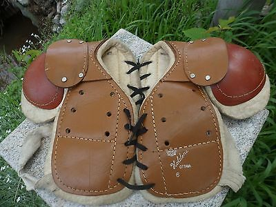 Vintage Hockey Shoulder Pads Leather Holdens Ottawa Canada Size Small Child Kid
