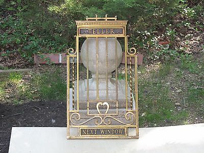Vintage Antique Teller Cage Very Decorative Early 1900's