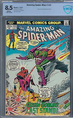 Amazing Spider-Man #122 : Cbcs 8.5 -  White Pages - Green Goblin Dies!!