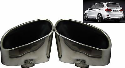 Double Chrome Exhaust Pipe Muffler Tip Stainless Steel Fits BMW X5 E70 NEW BOXED