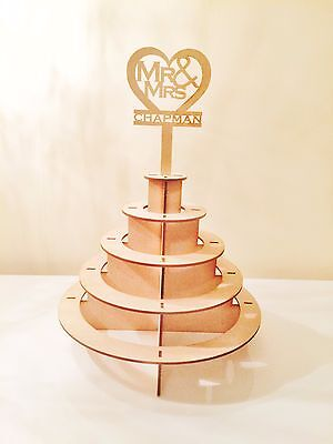 Personalised Mr & Mrs Ferrero Rocher pyramid Wedding Display Stand ferrerorocher