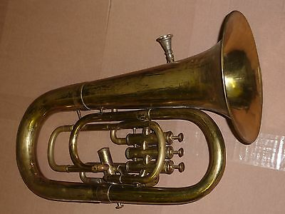 Antique couesnon & Cie Paris Euphonium with case