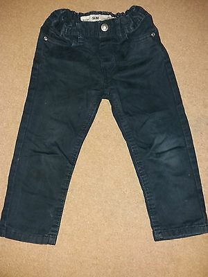 Used good condtion boys 2-3 years navy blue denim trousers