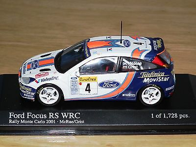 Minichamps 1/43 FORD Focus RS WRC Rally Monte Carlo 2001 McRae / Grist 430018904