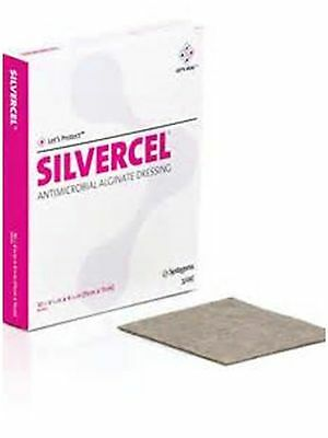 "Silvercel Non-Adherent Antimicrobial Alginate Dressing 4-1/4"" x 4-1/4"" 900404"