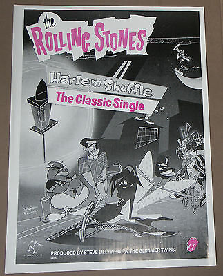 Rolling Stones Harlem Shuffle Large Poster Record Company Display 24 x 18 Inch