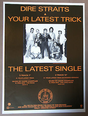 Dire Straits Large Poster UK Record Company Display 24 x 18 Inch
