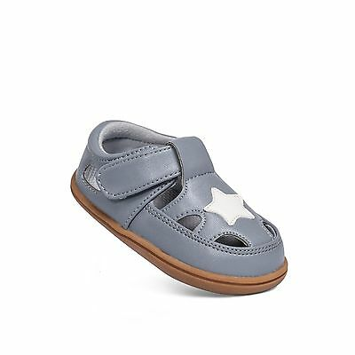 Baby Boy's Infant Toddler Children's Grey & White Star Leather Sandal Shoes