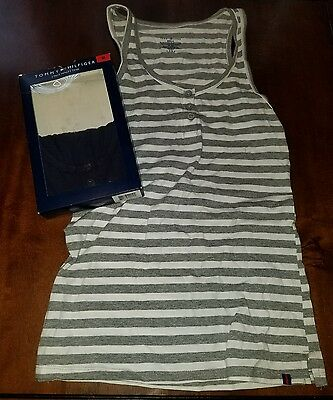 NWT Womens TOMMY HILFIGER 2 Pack Henley Tank Size Medium M