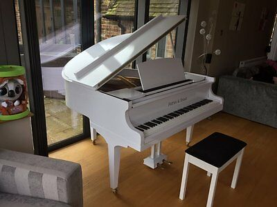 Tesoro Nero White Baby Grand Piano for Pianists